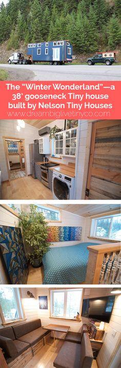 "THE ""WINTER WONDERLAND""—A 38' GOOSENECK TINY HOUSE BUILT BY NELSON TINY HOUSES"
