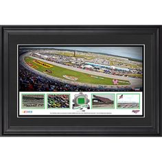 "Fanatics Authentic Talladega Superspeedway 2015 Framed 23.5"" x 15"" Panoramic Collage With Piece of Race- Green Flag -Limited Edition of 500"