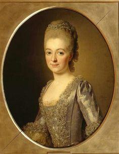 Portrait d'une femme, 1772 école d'Alexander Roslin. Portrait au Musée des beaux-arts Pouchkine, à Moscou