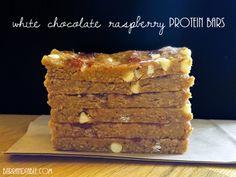 No-Bake White Chocolate Raspberry Protein Bars -- Barr & Table