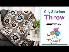 Crochet City Solarium Throw + TutorialCrochet City Solarium Throw Introducing this versatile crochet afghan called the Crochet City Solarium Throw.