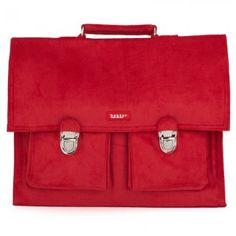 Bakker Made With Love Red Corduroy Big Satchel Backpack #CulturalCareAuPair #BackToSchool