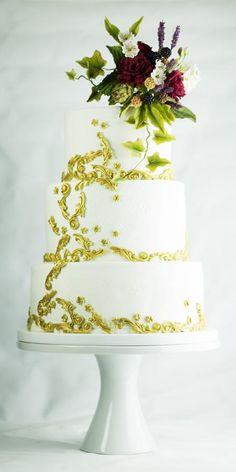 Wedding cake by Lina Veber  - http://cakesdecor.com/cakes/205924-wedding-cake