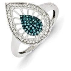 52527_880281_large Best Deal Belk & Co. Black and White Diamond Cross Pendant in Sterling Silver