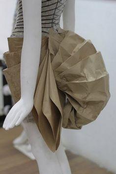 Cool way to make a paper dress!