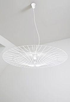 Steel pendant lamp LES OMBRELLES - La Corbeille Editions White Kids Room, Pendant Lamp, Chandeliers, Ceiling Lights, Steel, Lighting, Design, Home Decor, Light Bulb Vase