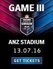 #Ticket  STATE OF ORIGIN GAME 3 TICKETS = ANZ STADIUM WED 13TH JULY = NRL RUGBY LEAGUE #Australia