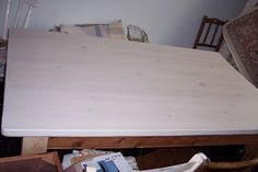 Interior Design Trend 2014: Wood bleach results...and a scrubbed pine table top