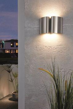 EGLO Outdoor LED Wall Light Morino 5W Anthracite Garden Security Lamp 93319
