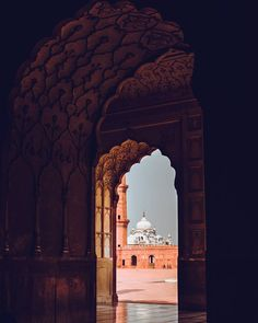"""S.J on Instagram: """"A view of Gurdwara Dera Sahib through the arches of Badshahi Mosque."""" Another World, Heaven On Earth, Mosque, Arches, Pakistan, Taj Mahal, Louvre, Country, Instagram Posts"""