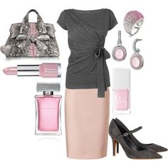 Pink and grey--- Can't do the shoes though