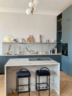 Kitchen Room Design, Home Decor Kitchen, Interior Design Kitchen, Home Kitchens, Nordic Kitchen, New Kitchen, Kitchen Dining, Kitchen Stories, Küchen Design