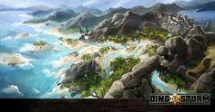 Dino Storm Concept Art 4 (DinoStorm.com - the free browser game with Cowboys. Dinosaurs. And Laserguns!)