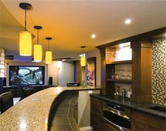 #DIY basement tip: Vary your lighting choices -  get more room #inspiration: http://www.familyhandyman.com/basement/basement-finishing-tips/view-all