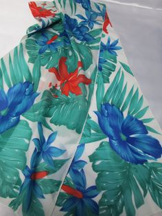Vintage Berkshire Tropical Scarf by AlternatingPatterns on Etsy