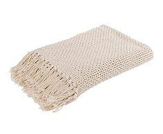 Colcha de algodón, beige - 180x260 cm