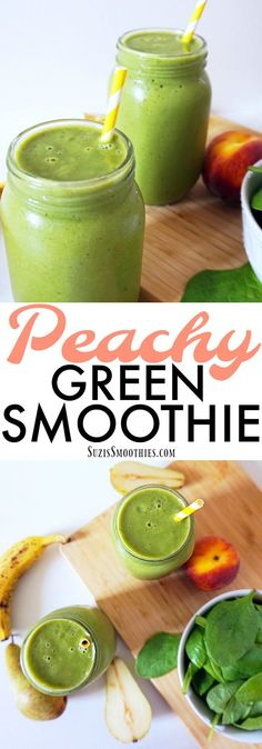 I Love This Green Smoothie!! It's sweet, creamy, filling and loaded with vitamins and minerals! I'm pinning this photo so I can always refer to this recipe anytime!