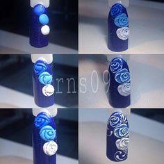"""@Regrann from @royal_nails_studio_09 - Мк """"Розы гель-пластилином"""". 1. Берём небольшое количество гель…"""