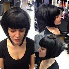 Inverted Bob Haircuts, Angled Bob Hairstyles, Short Bob Haircuts, Haircuts With Bangs, Medium Hairstyles, Layered Haircuts, Curly Hairstyles, Wedding Hairstyles, Haircut Short