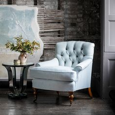 Designed with feminine lines, this is a perfectly proportioned buttoned-back Victorian style occasional chair: small, compact, and with a soft comfortable seat. Luxury Furniture, Furniture Design, Sun Chair, Wood Stain Colors, Used Chairs, Luxury Interior Design, Occasional Chairs, Chair Design, Donegal