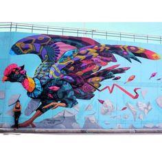 """""""El último vuelo de Ícaro"""" UNT-NOColectivo 2015 #colombia #colombiastreetart #streetartcolombia #bogota #bogotastreetart #streetartbogotá #condor #staywild #animal #medellin #streetartmedellin #faridrueda #bird #mexicolombia #mexico"""