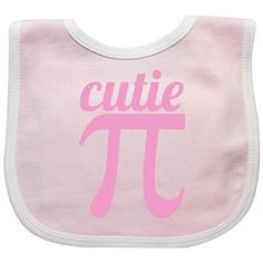 Inktastic Cutie Pi Pink Baby Bib Math Geeky Funny Geek Blithe Diaper Loading Newbie Ibaby Ikid Gamer Gift Clothing Infant