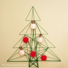 DIY string christmas tree | #adoredecor #holiday #craft