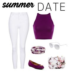 """""""Purple summer!"""" by cynthiaf1344 ❤ liked on Polyvore featuring Topshop, Geox, Honora, Smoke & Mirrors, statefair and summerdate"""