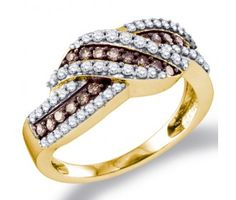Chocolate Diamond Fashion Rings Chocolate Brownd Diamond Ring