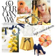 High-Waisted Shorts - Spring Lookbook