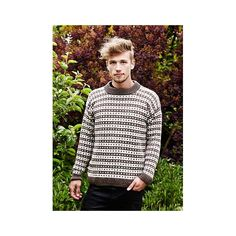 Ragnar Islænder Strikkekit M - Ragnar Islandsk Sweater Ragnar, Knitting Projects, Recipies, Men Sweater, Crochet, Sweaters, Design, Fashion, Brown
