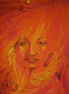 Angel Portrait, Acrylic on Canvas Portrait Acrylic, Spirit Guides, Angels, Canvas, Painting, Art, Tela, Art Background, Angel