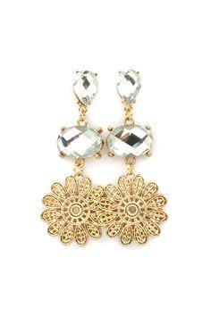 Lacie Earrings in Crystal