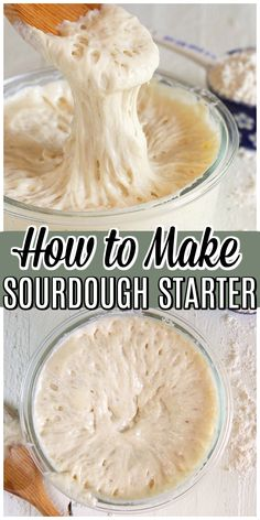 Easy to make Sourdough Starter recipe made from just two ingredients. All the tips you need to create a homemade sourdough starter from scratch. # Food and Drink homemade How to Make Sourdough Starter recipe Sourdough Bread Starter, Sourdough Recipes, Bread Recipes, Baking Recipes, Sour Dough Bread Starter Recipe, Easy Recipes, Healty Dinner, Artisan Bread, Pain