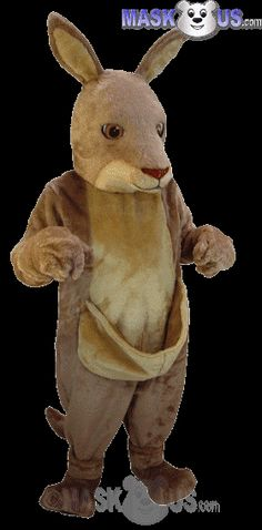 Kangaroo Mascot Costume T0110 is part of our Animal Mascots Forest Animals Thermo-Lite line. The mascot costume head is constructed out of vaccum-formed styrene for a light-weight, cooler head and includes a screened vision panel, comfort ventilation panels, and a built-in cooling fan. Mascot costume fits most adults ranging from 5'4 inches (162 cm) to 6'2 inches (183 cm) and chest size up to 60 inches (152 cm).