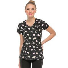 It's Your Lucky Day Print Top. #heartsoulscrubs Cute Scrubs, Scrubs Uniform, Love At First Sight, Work Fashion, Comfortable Shoes, Fashionable Scrubs, Fashion Accessories, Nurses, Blouse