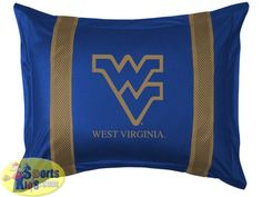 West Virginia Mountaineers Sham - Sidelines Design
