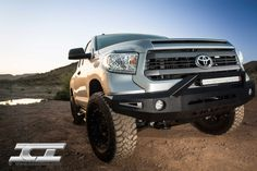 Magnum RT-Series Front Bumpers feature heavy duty construction and off-road cool looks! 2014 Toyota Tundra, Tundra Truck, 4x4 Off Road, Toyota Trucks, Offroad, Antique Cars, Garage, Action, Bar
