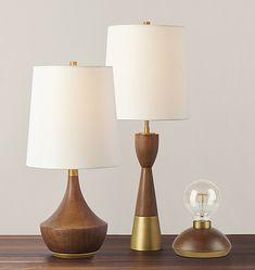Mid-Century Wooden Table Lamp   Rejuvenation