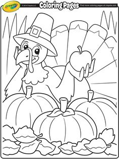 Color a fun Thanksgiving turkey this fall! | fall coloring pages