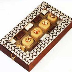 Ghasitaram's Chocolate Mithai Box - Online Shopping for Diwali Sweet Hampers by Ghasitaram Gifts Chocolate Coating, Chocolate Box, Delicious Chocolate, White Chocolate, Mithai Boxes, Sweet Hampers, Diwali Gifts, Creamy White, Packaging Design