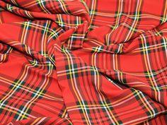 "58"" wide Poly Viscose Tartan Dress Fabric - Choice of Checks & Colours Preview"