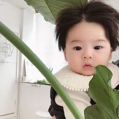 Dad Baby, Cute Baby Boy, Cute Little Baby, Little Babies, Cute Kids, Baby Kids, Cute Asian Babies, Korean Babies, Asian Kids
