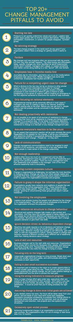 Organisational change management pitfalls - Pitfalls to avoid during organizational transformation