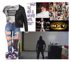 """""""🇨🇦 Gina Platinum 🇨🇦 - NXT ⚫️ Dread ❌ READ DESCRIPTION ❌"""" by iron-maiden-amy ❤ liked on Polyvore featuring Religion Clothing, NIKE, Yves Saint Laurent, WWE and wweoc"""