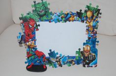 Superhero Spiderman Puzzle Picture Frame on Etsy, $20.00 SOLD