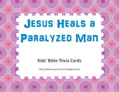 Bible Lessons for Kids: Kids' Bible Trivia - Free Printable Cards