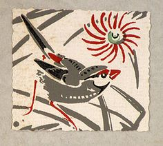 Ethleen Palmer (1906-1958)  Finch with Wheeflower, 1955