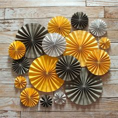 17 Paper Rosettes / Yellow & Grey / Wedding by rachelpartydecor, $55.00 * in pink