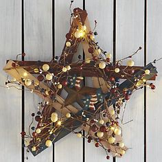 Lit Barn Star from Through the Country Door®